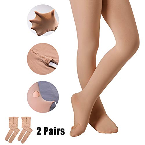Tight Dance Footed (Ballet Tights for Girls Dance Leotards Ultra Soft Footed Tight (Lt-Suntan, 5-10 Years))