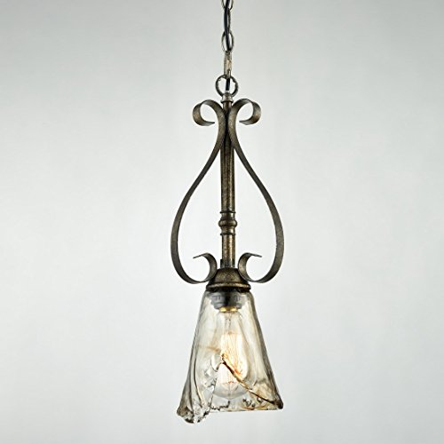 Glass Pendant Light With Chain - 5