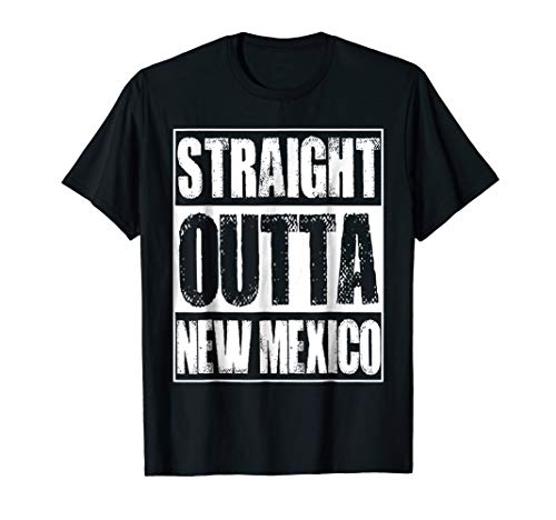 Vintage Straight Outta New Mexico Gift T-Shirt (Womens Cap Mexico T-shirt Sleeve)