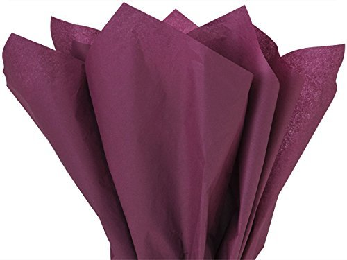 Dark Burgundy Bulk Tissue Paper 15 Inches x 20 Inches - 100 Sheets preimun Tissue Paper A1 bakery supplies