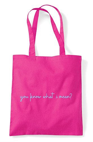 Tote Mean Quote Know Fuschia Shopper You I Bag Statement What Hashtag F0q6qxR