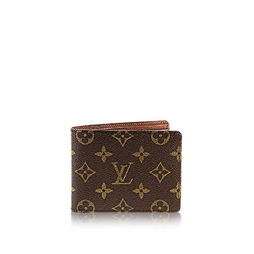 Bill Monogram Leather Canvas Canvas Wallet Leather Bill Multiple Multiple Monogram Holder Holder AqpzX