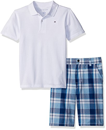 Tommy Hilfiger Baby Boys 2 Pieces Polo & Plaid Short Sets