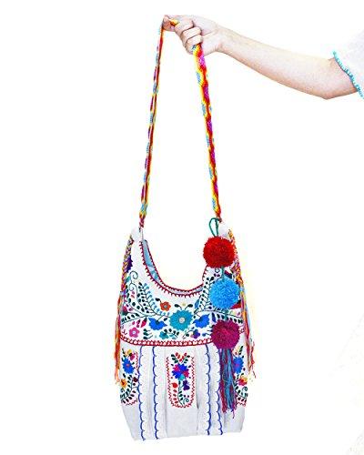 Jody Crossbody Handbag Purse Manta Embroidery by Erica Maree