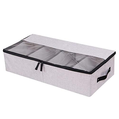 VADOLY Foldable Shoe Box Wardrobe Closet Organizer for Sock Bra Underwear Linen Cotton Storage Bag Under Bed Organizer by VADOLY (Image #2)