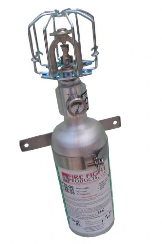 Fire Fight Products - SS30-CAG Straight Head Small-Format Automatic Release Fire Suppression Automatic Fire Extinguisher