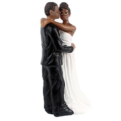 yepmax Wedding Cake Toppers African American Wedding Figurine Dancing 6.5x3x2.3 (Wedding Topper American African Cake)