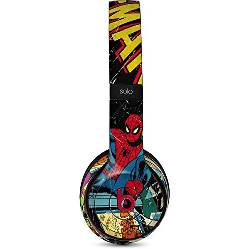 Skinit Marvel Comics Spiderman Beats Solo 3 Wireless Skin - Officially Licensed Marvel/Disney Audio Decal - Ultra Thin, Lightweight Vinyl Decal ()