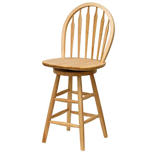 Wagner Arrow-Back Counter Stool with Swivel Seat (Counter Height Bar Stools Swivel With Backs)