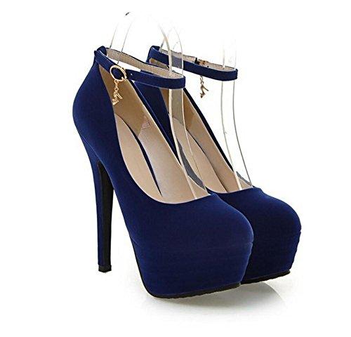 di larghezza fibbia XIE racchette Court casual scarpe red piede per Alta 41 41 BLUE da tacco SqvzH