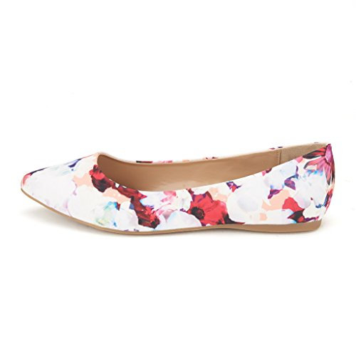 Classic Pointed PAIRS On Fancy Ballet Soft Slip Shoes Toe DREAM Casual Women's Floral Sole Comfort Flats qwYdEA