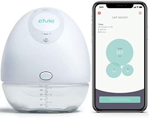 Elvie Pump Single Silent Wearable Breast Pump with App – Electric Hands-Free Portable Breast Pump Perfect for Breastfeeding Mothers