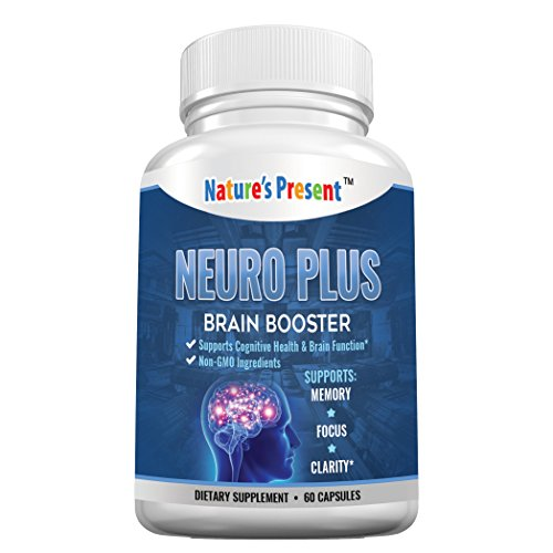 Neuro Plus Brain Support Supplement- Advanced Nootropics Formula For Memory, Focus & Mental Clarity, GMP Certificated, Non-GMO-60 Capsules (Memory Plus Formula)