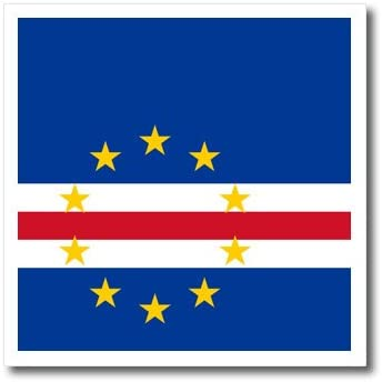 Amazon Com 3drose Ht 158277 3 Flag Of Cape Verde Island Country Navy Blue Red White Yellow Stars Iron On Heat Transfer Paper For White Material 10 By 10 Inch