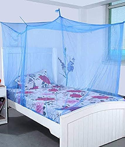 3.25x6.5 FT Blue Mosquito Net for Double Bed HDPE - Mosquito Net for Baby | Bedroom | Family | Queen, King Size Bed by (Green Valey) (B07HF45G2R) Amazon Price History, Amazon Price Tracker