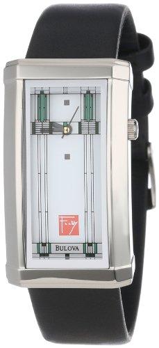 Bulova Women's 96L63 Frank Lloyd Wright Willits Leather Strap ()