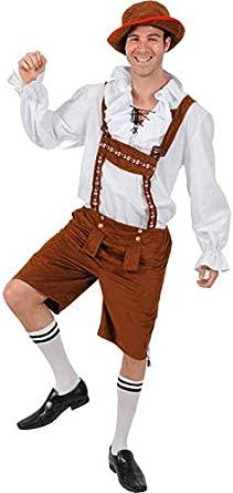ORION COSTUMES Disfraz de Pantalón de Cuero Alemán del Festival de la Cerveza Bavaria para Hombres