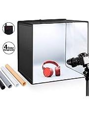 """ESDDI Fotostudio Light Box 24""""/ 60 cm Einstellbare Helligkeit Tragbare Falten Professionelle Stand Tischplatte Fotografie Lighting Kit 156 Led-leuchten 4 Farben Hintergründe"""