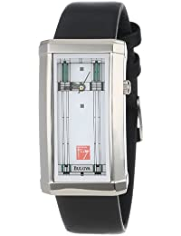 Womens 96L63 Frank Lloyd Wright Willits Leather Strap Watch