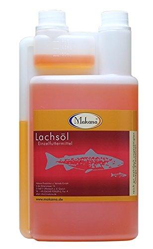Makana Lachsöl für Tiere, 1 Liter Dosierflasche, 1er Pack (1 x 1 L)