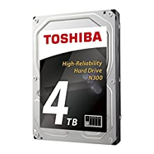 "Toshiba America Electronic Components N300 4TB NAS 3.5"" Internal Hard Drive- SATA 6 Gb/s 7200 RPM 128MB (HDWQ140XZSTA) 4000 3.5 Internal Bare/OEM Drive"