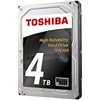 Toshiba America Electronic Components N300 4TB NAS 3.5 Internal Hard Drive- SATA 6 Gb/s 7200 RPM 128MB (HDWQ140XZSTA) 4000 3.5 Internal Bare/OEM Drive
