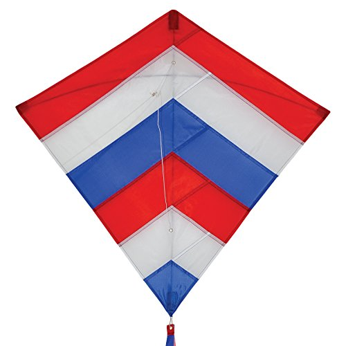 In the Breeze 3100 Patriot Overlay Diamond Kite, 30-Inch (Star Kite)