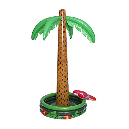 - Sanmubo Inflatable Palm Tree Shape Cooler Ice Bucket Palm Tree Inflatable Cooler Pool Party Floating Cooler Luau Party Supplies and Hawaiian Decorations