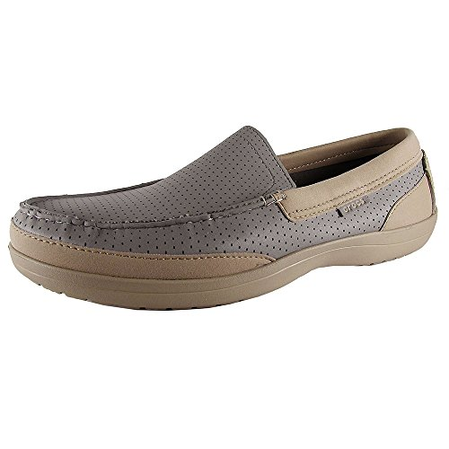 Crocs Mens Wrap Colorlite Perforé Mocassins Chaussures Fumée / Tumbleweed