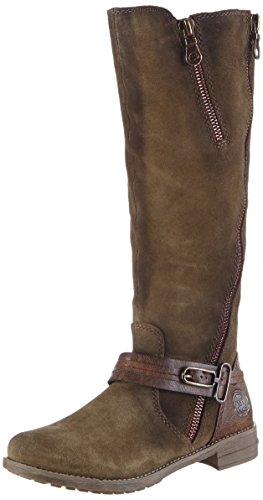 Marco Tozzi Premio 25613 - botas de caño alto de material sintético mujer verde - Grün (Forest A.Comb 793)