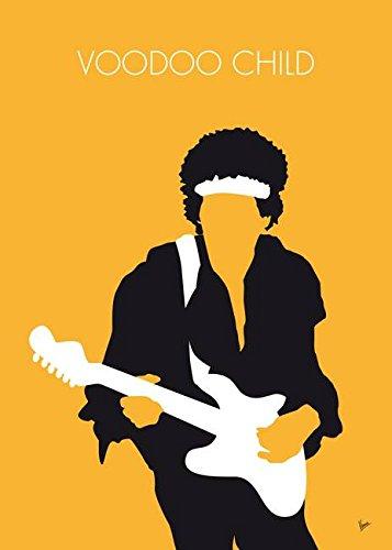 Imagekind Wall Art Print entitled No014 MY Jimi Hendrix Minimal Music Poster Chungkong Art | 16 x 22 (Cult Classic Icon)