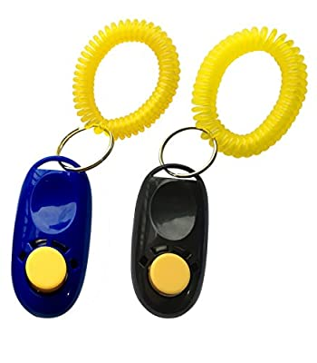 NewNewStar® Black + Blue Pet Training Clicker with Wrist Strap - Dog Training Clicker by NewNewStar
