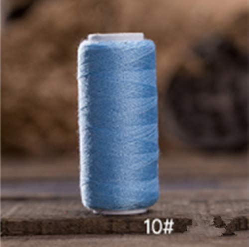(Laliva 5pcs/lot Sewing Thread Polyester Thread Set Strong and Durable Sewing Threads for Hand Machines T504 - (Color: 10 Light Blue))