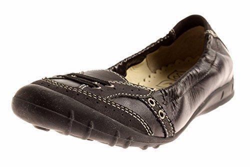 Cuir nappa Nubuck Ricosta 293 Véritable Noir 78 Ballerines Chaussures qpCp65F