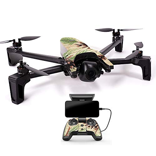 MightySkins Skin for Parrot Anafi Drone - Pine Collage | Protective, Durable, and Unique Vinyl Decal wrap Cover | Easy to Apply, Remove, and Change Styles | Made in The USA