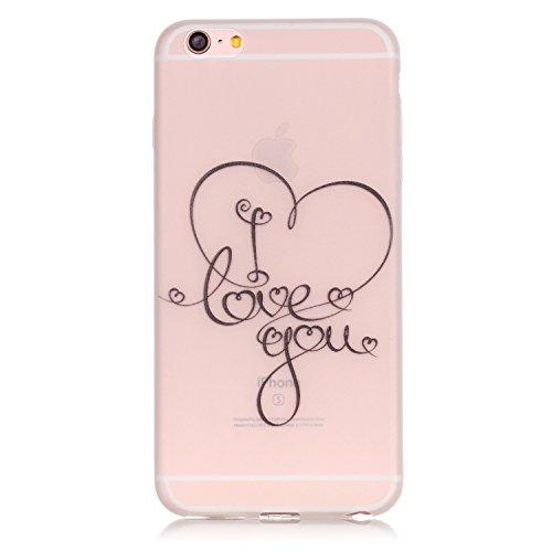 Voguecase® für Apple iPhone 6 Plus/6S Plus 5.5 hülle, Schutzhülle / Case / Cover / Hülle / TPU Gel Skin mit Nachtleuchtende Funktion (I love you 04) + Gratis Universal Eingabestift