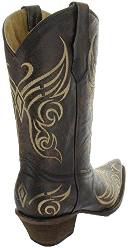 Corral Femmes Papillon Broderie Western Bottes Tabac