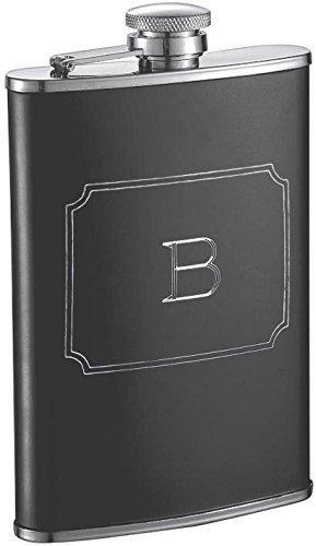 【格安saleスタート】 Visol Products Marcel Liquor Products Flask with Engraved Letter Initial, Visol 240ml, Letter B, Matte Black B01H1O6MRM, はいから。:4336e71c --- fitnessmarathi.com