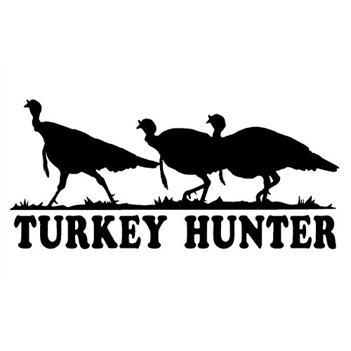 Hitada - 16.3CMx7.3CM Turkey Hunter Decal Three Wild Turkeys Car Vinyl Hunting Sticker And Car Stylings Stickers Black/Silver