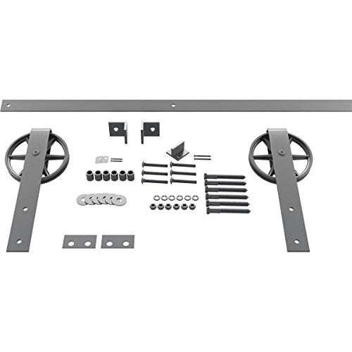 Goldberg Brothers Inc. GB600154HWFG Premium Wagon Wheel Strap Set Barn Door Hardware, 48 Inch Track Length (for 2 1/4…