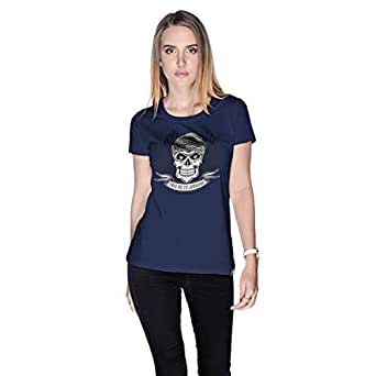 Creo Take Me To Jumeirah Bikers T-Shirt For Women - M, Navy Blue