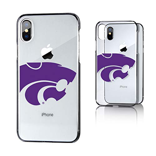 Keyscaper KCLRIX-0KSU-INSGN1 Kansas State Wildcats iPhone X/XS Clear Case with KS Insignia Design