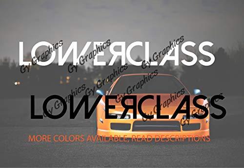 Gy Vinyl Arts, Lowered Class, Windshield, Decal, Bumper, Sticker, Sun Visor Strip, Compatible, Toyota, Nissan, Mazda, Honda, Acura. BMW, Audi, Volkswagen, Mitsubishi (3