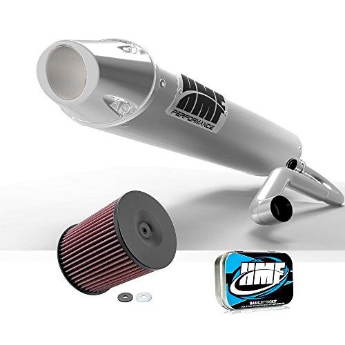 Hmf Full System (HMF Yamaha YFZ 450 2012 2013 Brushed/Polished Full System Exhaust Muffler + JET + KN)