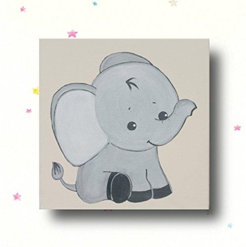 Kinderzimmer Bild Elefant Babyzimmer Dschungeltiere Wandbild ...