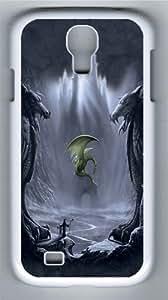 Lost Valley Dragon Custom Samsung Galaxy I9500/Samsung Galaxy S4 Case Cover Polycarbonate White