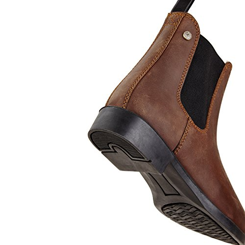 Chelsea Boot jodhpur Winter Comfortabel Enkellaarsje Van Rundleer | Hoefijzer Met Duurzame Rubberen Zool En Leren Binnenzool | Schoen Slip Laarzen In De Maten 29-46 | Kleur: Zwart En Bruin