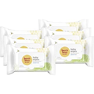 Burt's Bees Baby Chlorine-Free Wipes, Unscented Natural Baby Wipes for Sensitive Skin – 72 Wipes (Pack of 6)