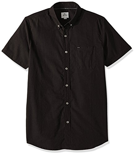 Rip Curl Mens Ourtime Short Sleeve Shirt  Charcoal  2Xl