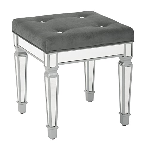 Ave Six Reflections 18'' Stool, Graphite by Ave Six